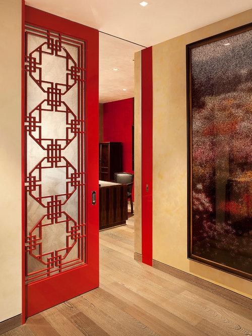 Ex&le of a trendy home design design in Los Angeles & Top Hung Door | Houzz Pezcame.Com