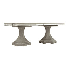 """Sanctuary Rectangle Dining Table With 2-20"""" Leaves"""