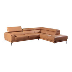 Amanda Modern Camel Leather Sectional Sofa With Right Facing Chaise - Sectional Sofas  sc 1 st  Houzz : camel leather sectional - Sectionals, Sofas & Couches