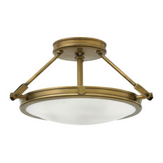 Hinkley Lighting Collier Heritage Brass Semi-Flush Mount Fixture