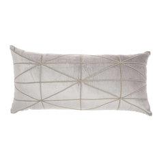Inspire Me! Home Decor Embellished Criss Cross Throw Pillow, Light Gray
