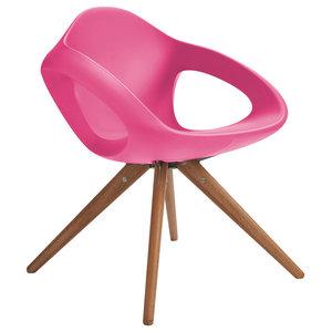 Easer Modern Armchair, Pink, Wood Frame