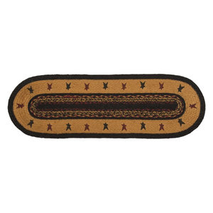 Liberty Stars Flag Jute Stair Tread Oval Contemporary Stair Tread Rugs By Appleseed Primitives