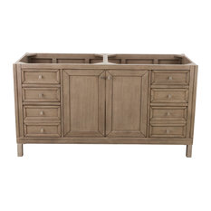 "Chicago 60"" Whitewashed Walnut Double Vanity"