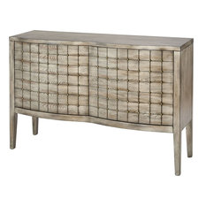 Stein World - Scanlon Cabinet in Rockport Grey Veneer - Accent Chests and Cabinets