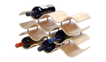 Ebony Bali 10-Wine Rack, Wood