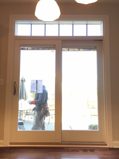 Andersen E Series Patio Door Installation With Transom Windows