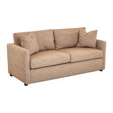 Klaussner Furniture Jaylen Queen-Size Sleeper Sofa, Pecan