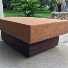 Suberra Cork And Reclaimed Old Growth Redwood Coffee Table   Coffee Tables