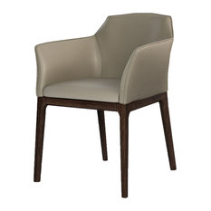 Italian Leather Dining Arm Chair, set of 4
