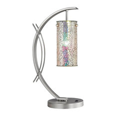 Eclipse Table Lamp With Glass Shade, Irridescent