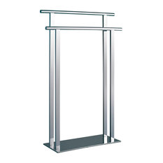 Free-Standing Steel Superbia Towel Rail With Polished Chrome Finish