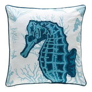 Seahorse Pillow Beach Style Decorative Pillows By Company 415