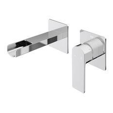 VIGO Atticus Wall Mount Bathroom Faucet, Chrome, Chrome