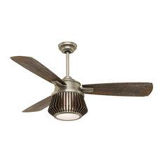 "Casablanca 56"" Glen Arbor Metallic Birch Ceiling Fan With Light and Remote"