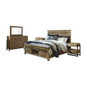 Ashley Sommerford 5-Piece Room Set Eastern King, Brown