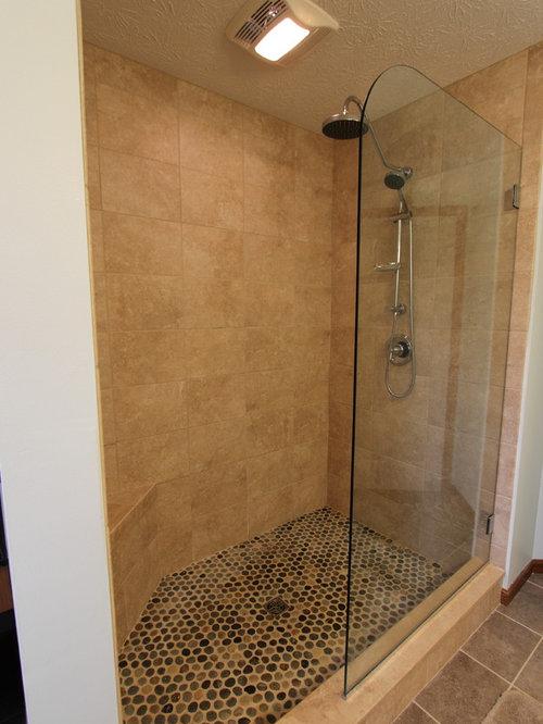 Tiled Masterbath with Makeup Vanity ~ Medina, OH #1 - Showerheads And Body Sprays