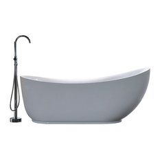 "Vanity Art Freestanding Acrylic Bathtub, White, 35""x71"""