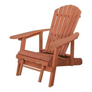 Hinkle Chair, Cinnamon Finish, Red Grandis Adirondack Chair