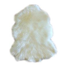 Premium Faux Fur Sheepskin Area Rug, 4'x6'