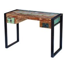 AffordableVariety - vidaXL Desk Solid Reclaimed Wood - Desks & Writing Bureaus