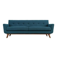 Asher Upholstered Fabric Sofa/Azure
