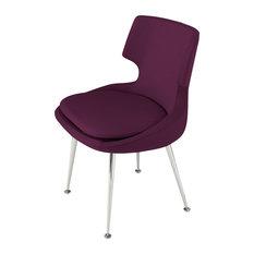 Patara Chair, Chrome Base, Deep Maroon Camira Wool
