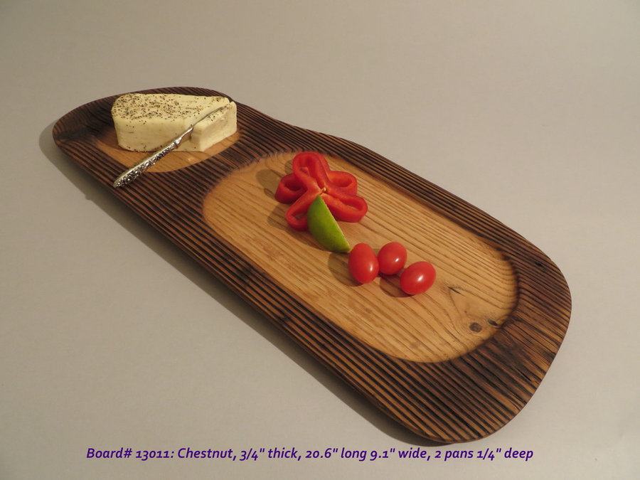 Hand-Carved Chestnut Serving Board