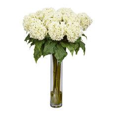 Hydrangea Silk Flower Arrangement, White