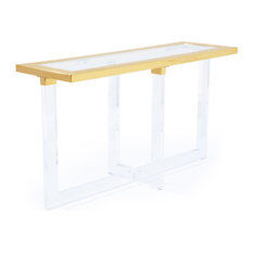 Pasargad Vicenza Lucite Clear Console