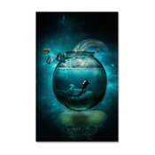 'Two Lost Souls' Canvas Art by Erik Brede