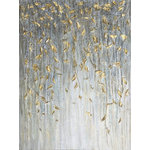 "IIC Art Inc. - ""Dangling Gold Leaves I"" Hand Painted Canvas Art - Hand-painted:100% hand-painted high quality oil paintings by professional artist. As each painting is 100% hand-painted, actual paintings may be slightly different from the product image due to different brand of monitors."