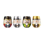 """""""Nutcrackers"""" Stemless Wine Glass by Lolita, 4 Piece Set"""