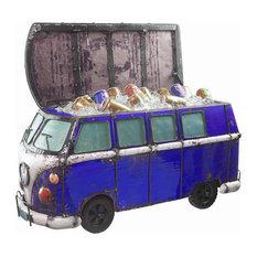 Think Outside Blue Kombi Handmade Scrap Metal Functional Beverage Cooler