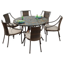 Stunning Tropical Outdoor Dining Sets by Home Styles Furniture