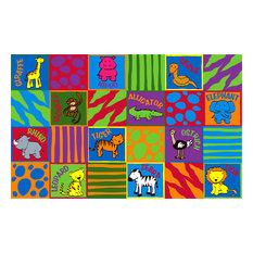 Animal Squares Rug