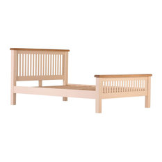 Champagne Painted Oak Bed, Single
