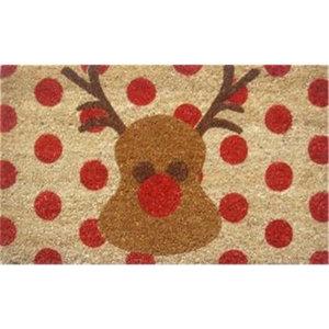 IUC International Rudolph Hand-Woven Coconut Fiber Doormat
