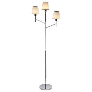 Marilla 3-Light Floor Lamp, Polished Chrome