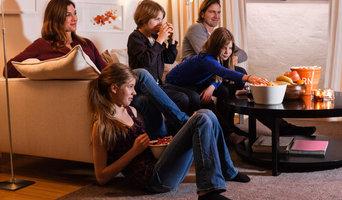 Familj i torr källare