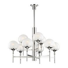 Hudson Valley Salem Nine Light Chandelier 4436-PN