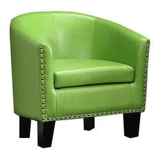 Isabel Barrel Chair, Pear Green