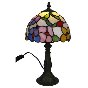 Spring Bouquet Tiffany Glass Table Lamp, Small