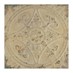 """13""""x13"""" Cantabria Ceramic Floor and Wall Tiles, Blanco, Set of 10, Blanco"""