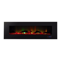 "Touchstone ValueLine 60"", Multicolor Flame Recessed Electric Fireplace"