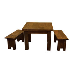 furniture barn usa rustic barn wood style timber peg table set kids tables - Childrens Table And Chair Set