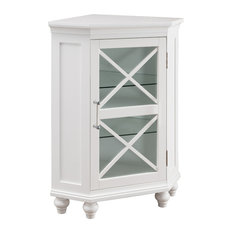 Elegant Home Fashions - Blue Ridge Corner Floor Cabinet - Accent Chests and Cabinets