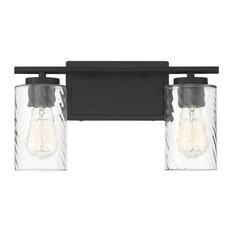 Trade Winds Raymond 2-Light Bathroom Vanity Light in Matte Black