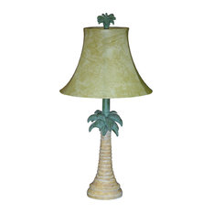 Papila Design, Inc.   Tropical Palm Tree Table Lamp With Shade   Table Lamps