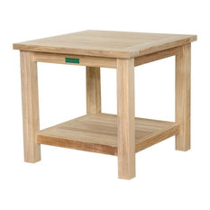"""22"""" Square 2-Tier Side Table"""